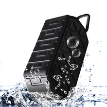 New Portable IP66 Waterproof Outdoor Wireless Bluetooth Speaker With selfie Mic and Dual-Driver for iPhone, Huawei,xiao mi