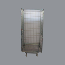 Rolling warehouse welded wire security cage