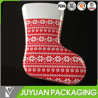 2015 new style empty sock tin cans /christmas metal tin cans