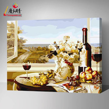 famous painting on canvas oil painting by numbers flower and flower vase vase for decor home