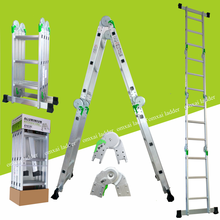 easy operate adjustable flexible en 131 europe multi-purpose aluminium step ladder home use 4x3 12 steps 3.7m with locks
