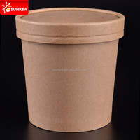 Disposable 16oz oil proof paper soup cups