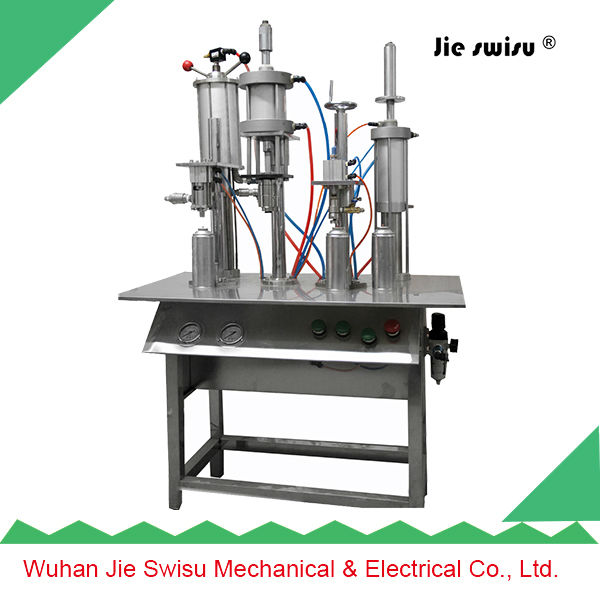 dual nozzle spray gun filling machine