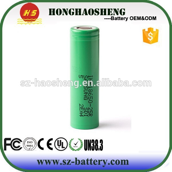 High quality Samsung 18650 2500mah 3.7v battery Samsung 25r 2500mah battery samsung lithium ion battery cell 18650 26650