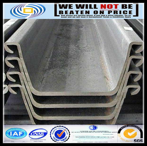concrete sheet pile with SYW390 SY295 S355JO standard