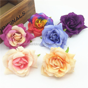 Fashion artificial orchid rose flower ornamennt heads wholesale flower factory SLF-2026