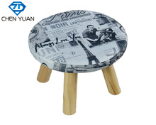 Vogue Furniture children's shoes changing foot stool small wooden Stool with long legs