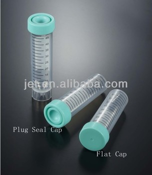 Centrifuge Tubes with Plug Seal Cap Packed in Rack