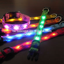 Unique Safety Dog Collars Nylon Led Dog Collars