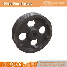 Hot sale Southeast Asia market heavy duty cast iron wheel according your drawing