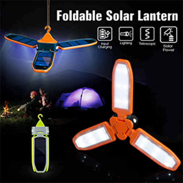 Outdoor Solar Folding USB Charging Camping Light Lantern LED Emergency Lamp With Solar Panel