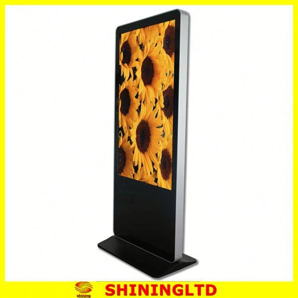 "46"" floor standing lcd advertising kiosk metal display stand metal exhibition stand SH4680AIO"