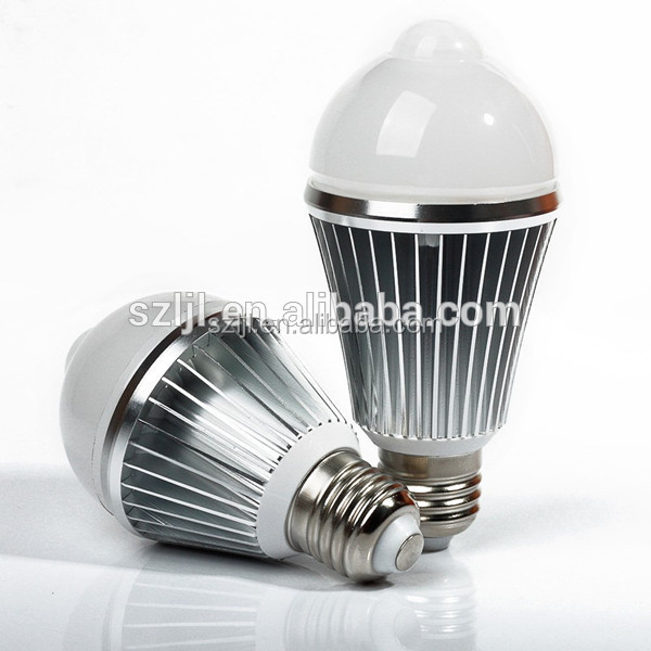 7W E27 LED Infrared sensor light 5730 SMD human induction Lamp Bulb
