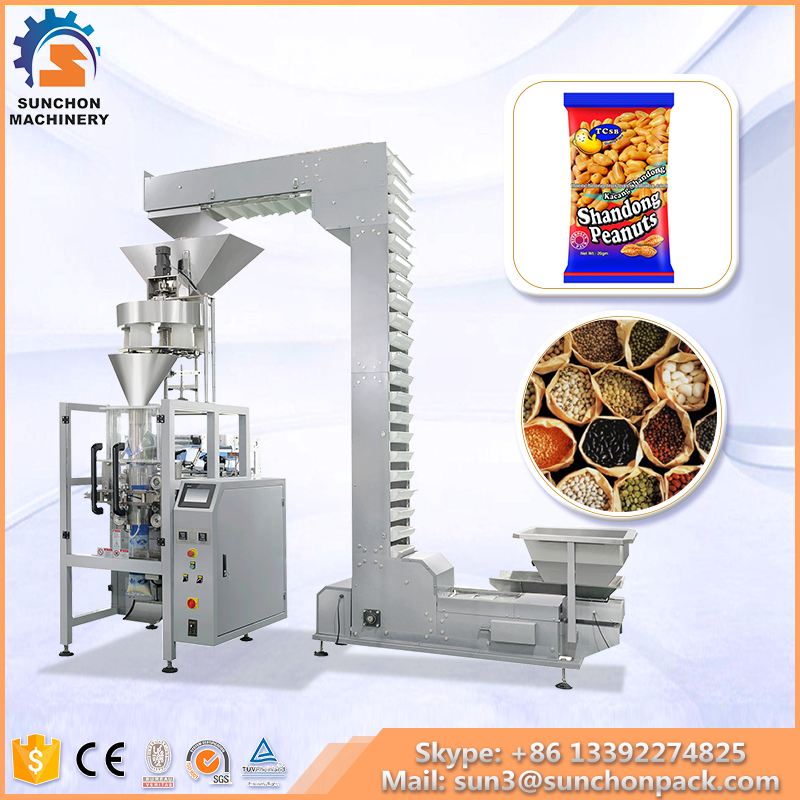 Stainless Steel 304 Automatic Granule Food Packaging Machine For Roasted Peanuts