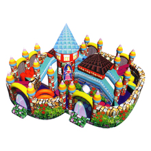Famous intellectual mini inflatable fun city for kids