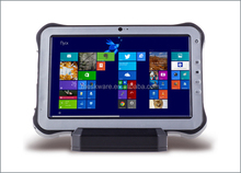 Rugged tablet with docking station hand plam strap