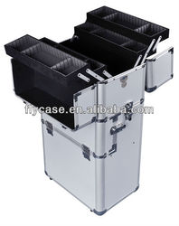 2014 customized aluminum trolley tool box with pallets in side,rolling aluminum tool case