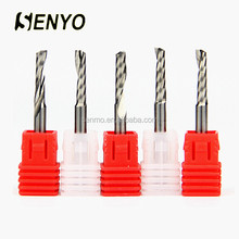 Carbide single flute special end mill cutting tools for teflon