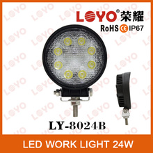 Popular Square/Round 24W LED Headlight for Truck 4X4 ,LED Work Light