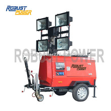 4000W Metal Halide Lamp Mining Mobile Diesel Generator For Lights