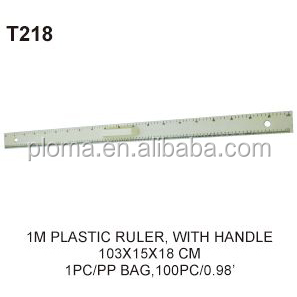Educational supply 1M plastic ruler with handle