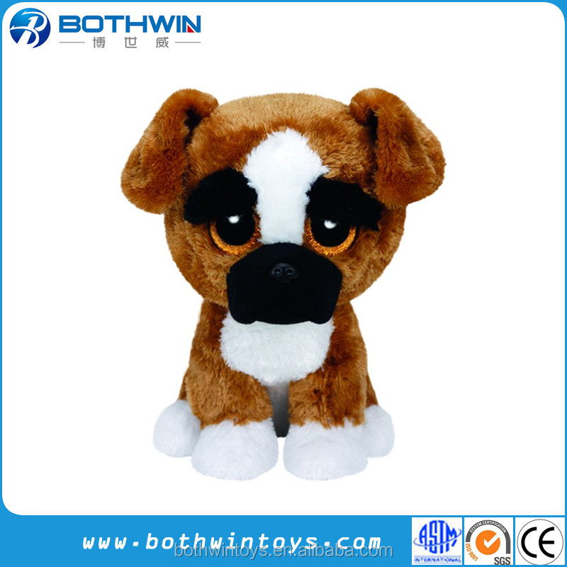 Custom Big eyes plush dog toy farm animal cartoon dog