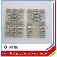 19 keys hot sell silicone rubber conductive keypad