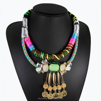 handmade statement necklace,statement necklace crystal collar 2015(SWTAA2109)
