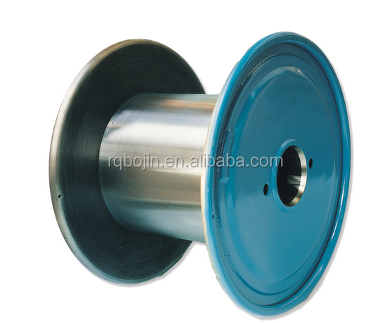 Double layer high-speed cable drum, steel reel