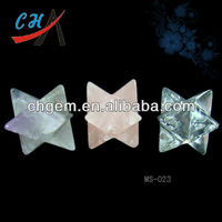 2014 HOT SELLING 35mm Gemstone Quartz Merkaba Star