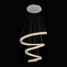 2019 wholesale modern stairecase Suspension hanging crystal spiral led pendant light