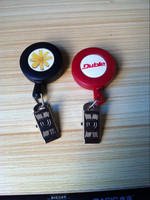 promotional colorful yoyo id badge reels, custom yoyo retractable badge reels, retractable badge reel alligator clip.