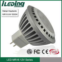 LED 50W equivalent 12V 8W LED Spot lamp MR16