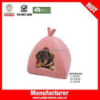 Pink Small Cheap Cave House Decorative Dog Beds