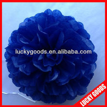 high quality navy blue decoration paper party pom pom