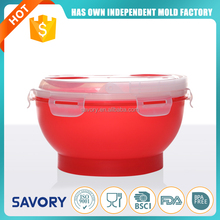 Hot Sale Plastic Fashion Tableware Food Grade reusable plastic soup salad bowl
