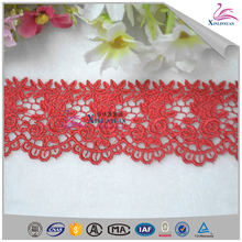 Low price chemical embroidered lace trimings for women dress