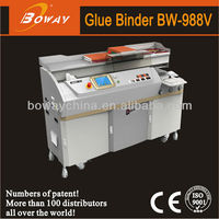 18 Year CE ISO Boway 988V automatic clamping book binding machine Hot Melt Glue