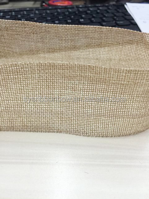 25mm natural jute ribbon for decoration