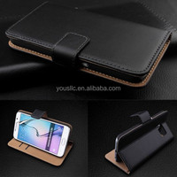 Genuine Real Leather Wallet stand case cover for samsung galaxy s5 & s5 mini
