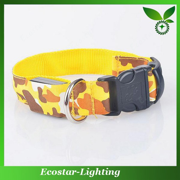 Top sale flashing pet collars for dog