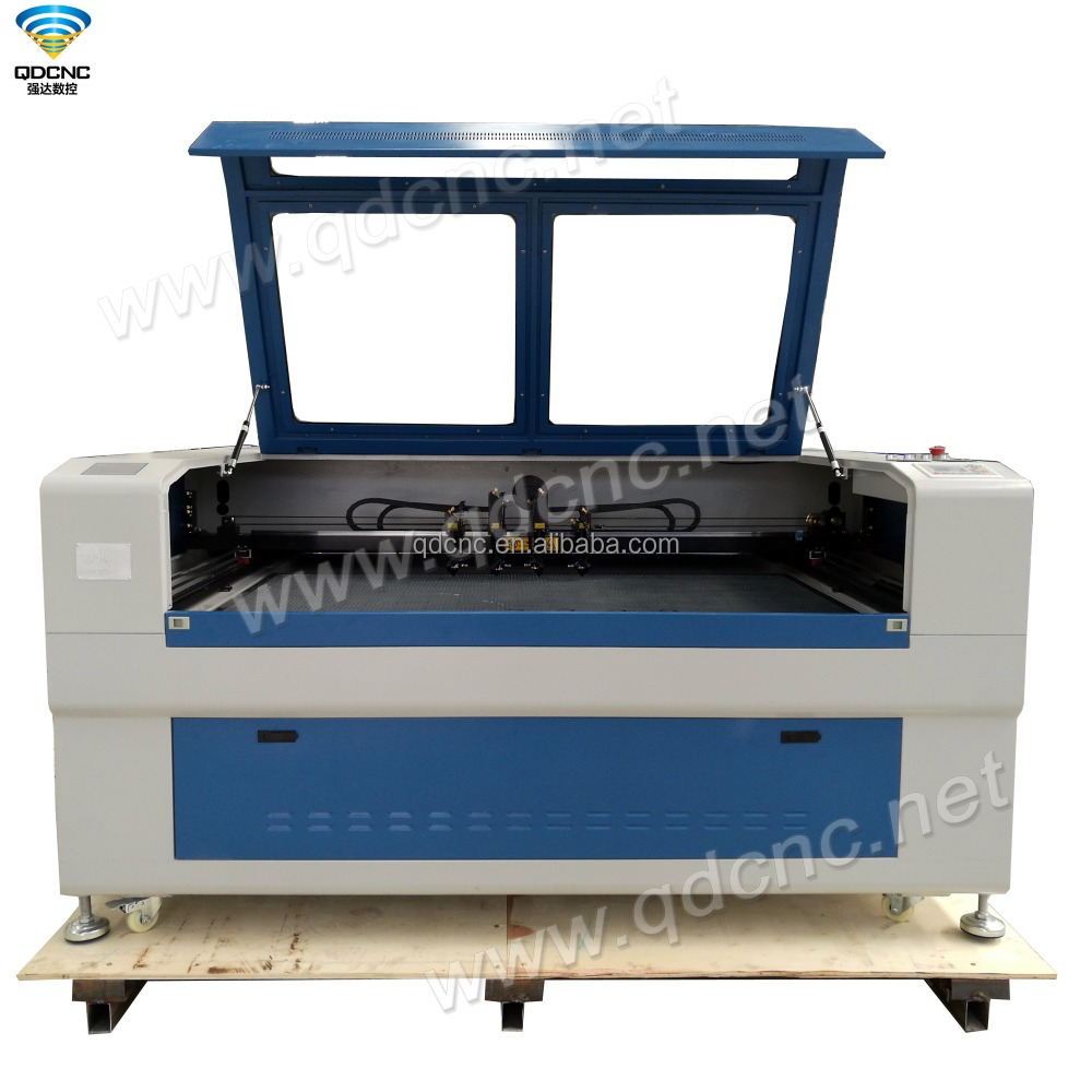 laser machine four heads co2 laser cutting engraving machine QD-1610-4