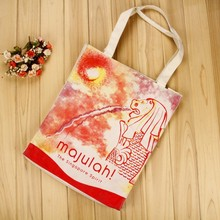 wholesale promotional supermarket durable reusable shopping canvas cotton bag