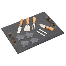 Natural 40X30Cm Slate Cake Buffet Tray