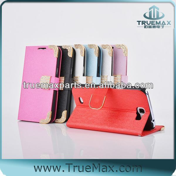 Top Quality for Samsung Galaxy Note 2 Color Leather Case, Card Slot Case