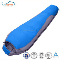100% Nylon fabric eider down family camping mummy sleeping bag