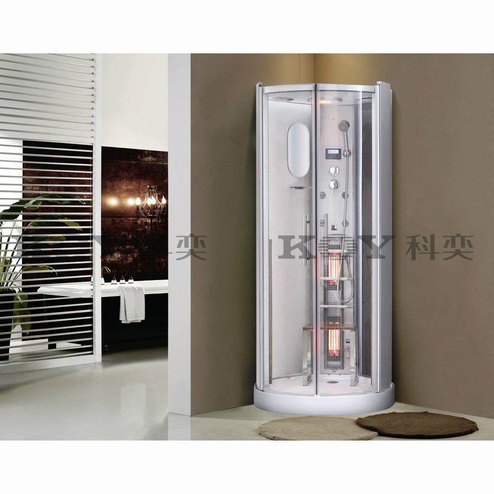2015 New style Luxury shower steam room with infrared sauna heat K029 (with CE,TUV,EMC)