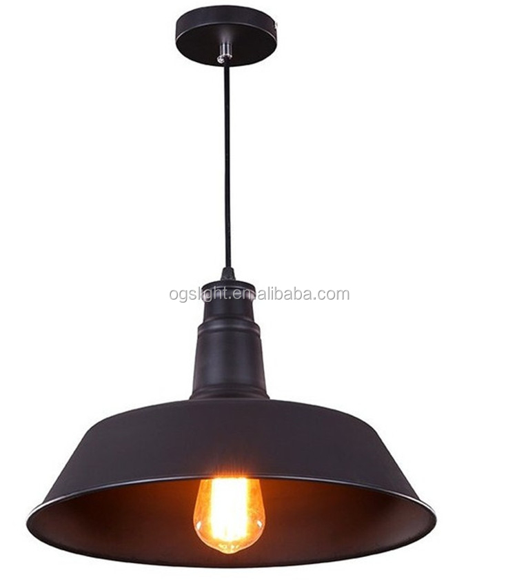 American style retro industrial black pendant light fixture for coffee shop