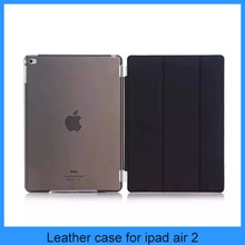 For apple ipad air 2 new ipad 6 smart cover with translucence PC back case 9 colours