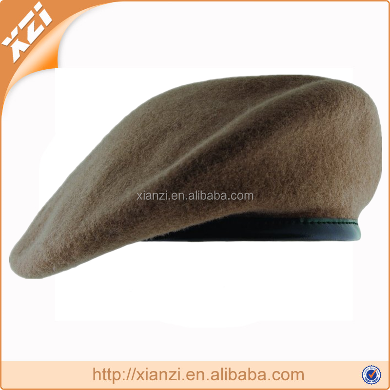 Fashion army beret caps military beret with 90% Wool and 10% Acrylic